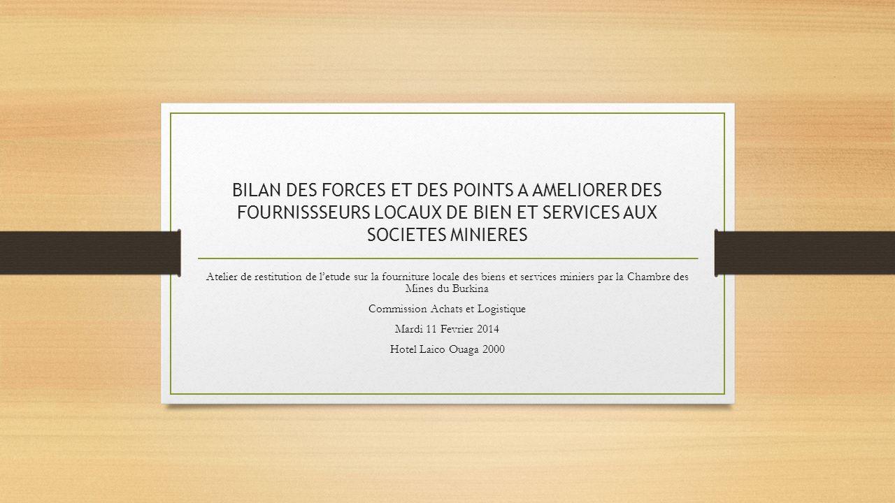 Commission Achats et Logistique
