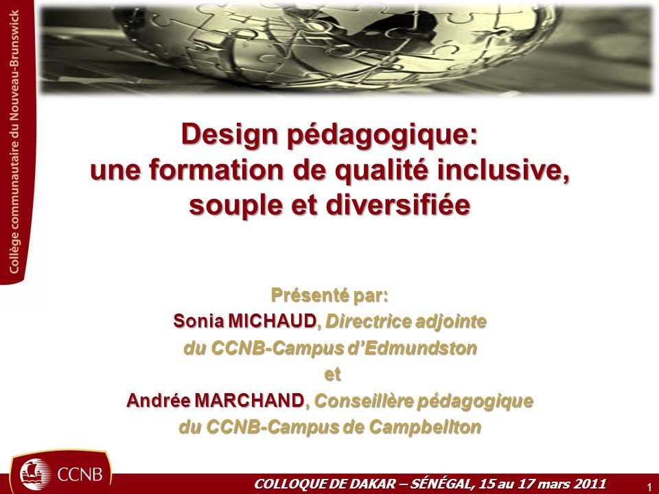 Design pédagogique: une formation de qualité inclusive, souple et diversifiée