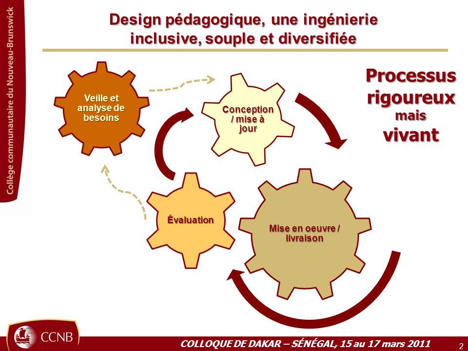 Design pédagogique, une ingénierie inclusive, souple et diversifiée