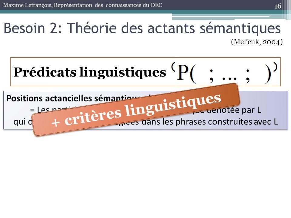 + critères linguistiques