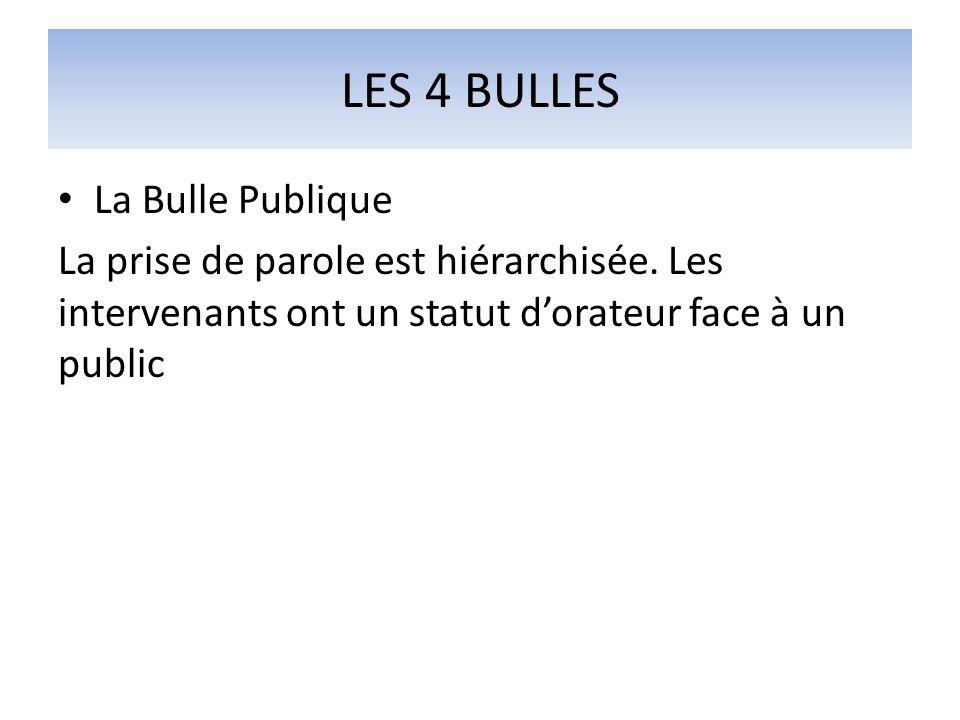 LES 4 BULLES La Bulle Publique