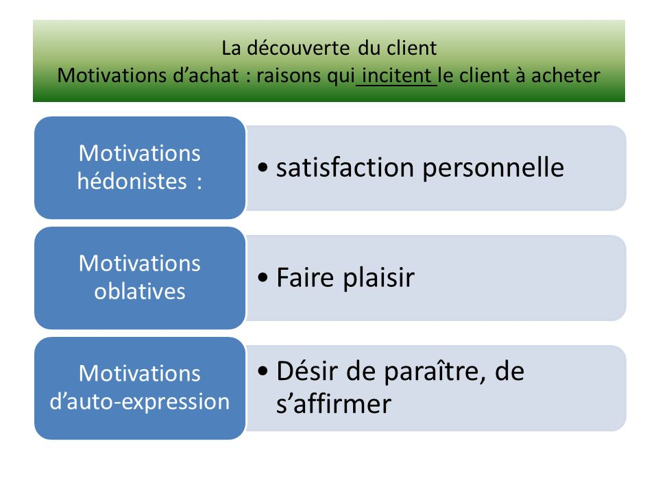 satisfaction personnelle