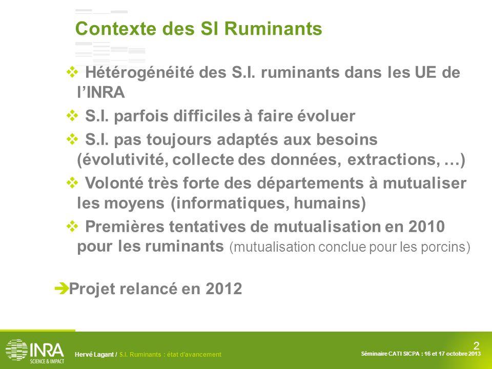 Contexte des SI Ruminants