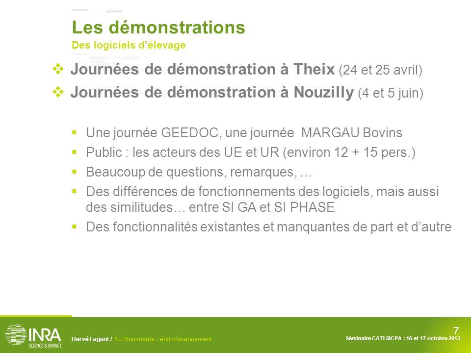 Les démonstrations Journées de démonstration à Theix (24 et 25 avril)