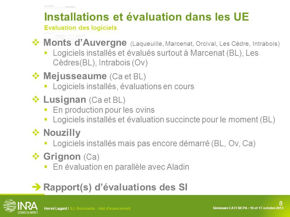Installations et évaluation dans les UE