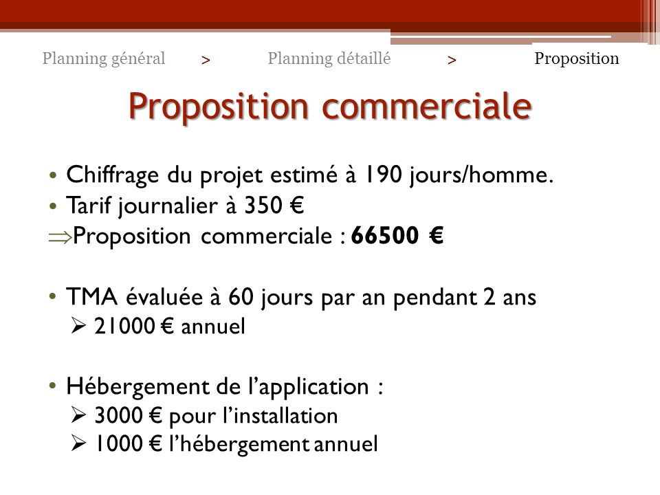 Proposition commerciale