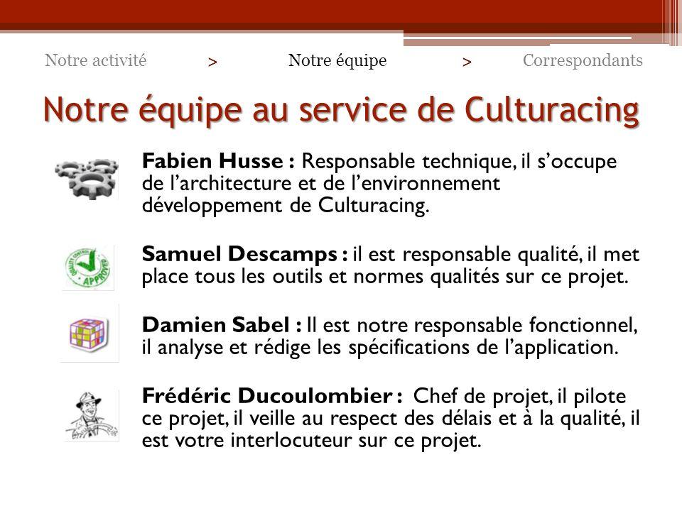 Notre équipe au service de Culturacing