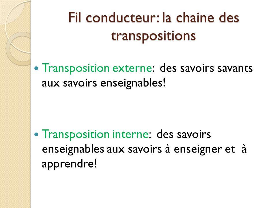 Fil conducteur: la chaine des transpositions