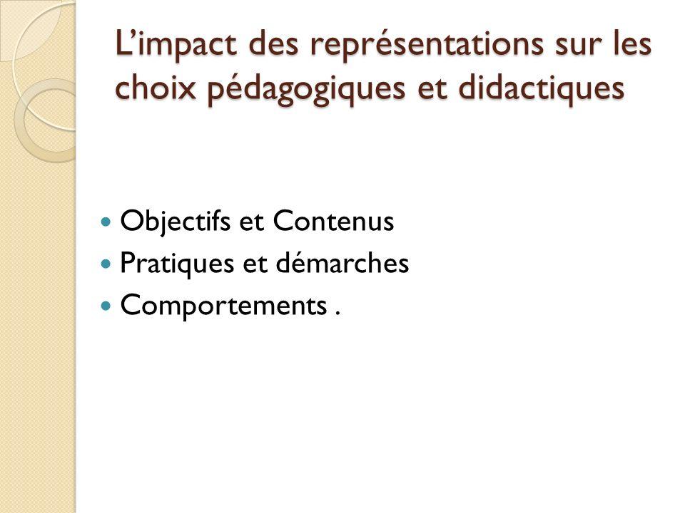 L'impact des représentations sur les choix pédagogiques et didactiques