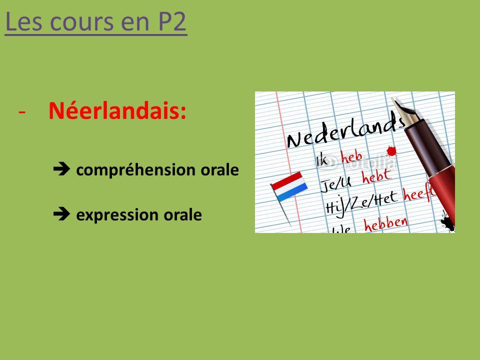 Les cours en P2 Néerlandais:  compréhension orale  expression orale
