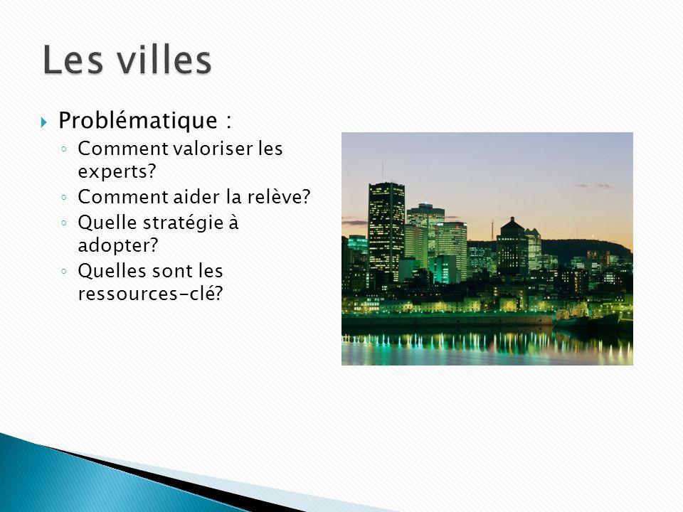 Les villes Problématique : Comment valoriser les experts