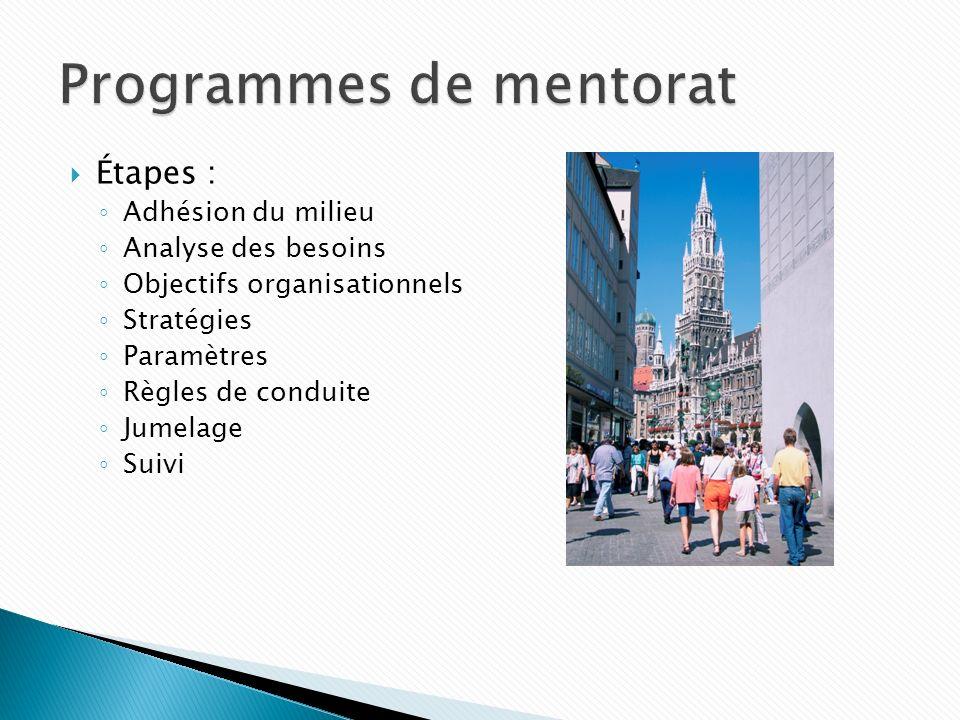 Programmes de mentorat