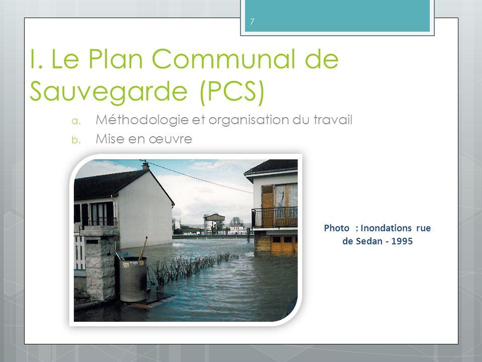 I. Le Plan Communal de Sauvegarde (PCS)