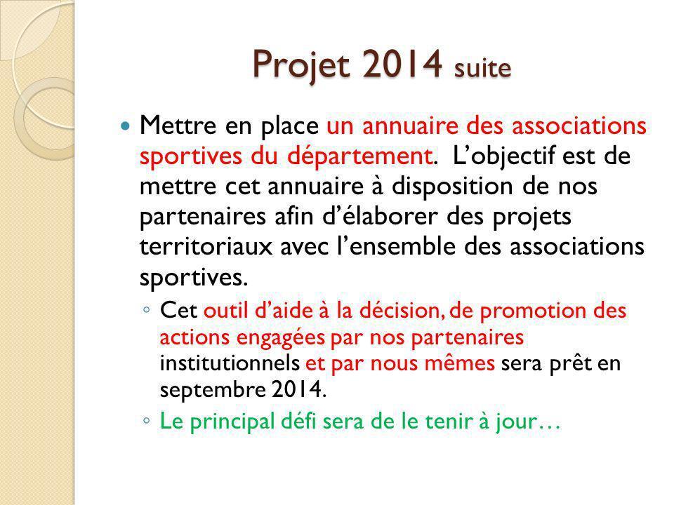 Projet 2014 suite