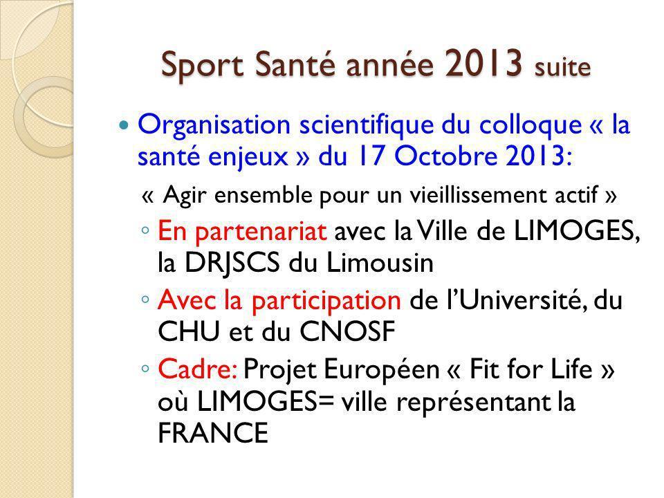 Sport Santé année 2013 suite