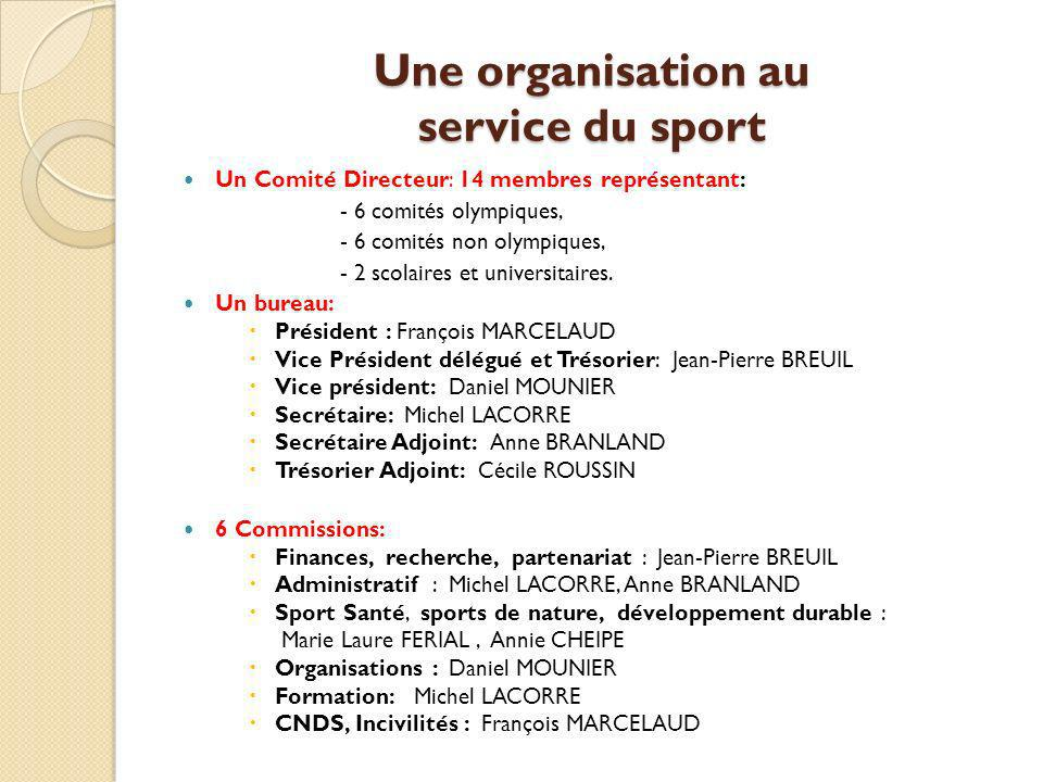 Une organisation au service du sport