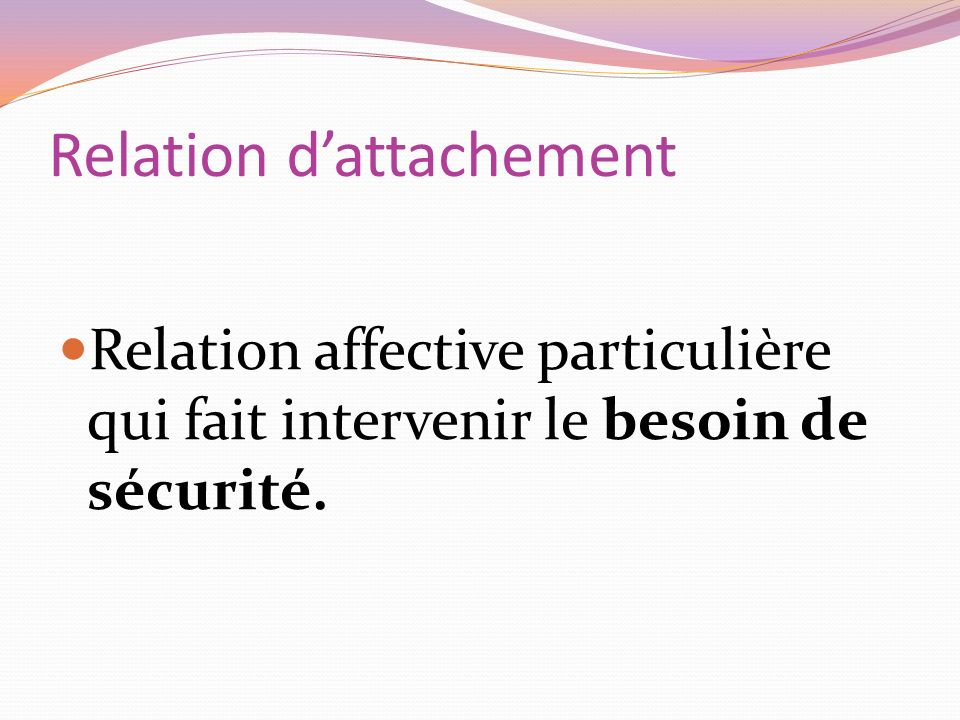 Relation d'attachement