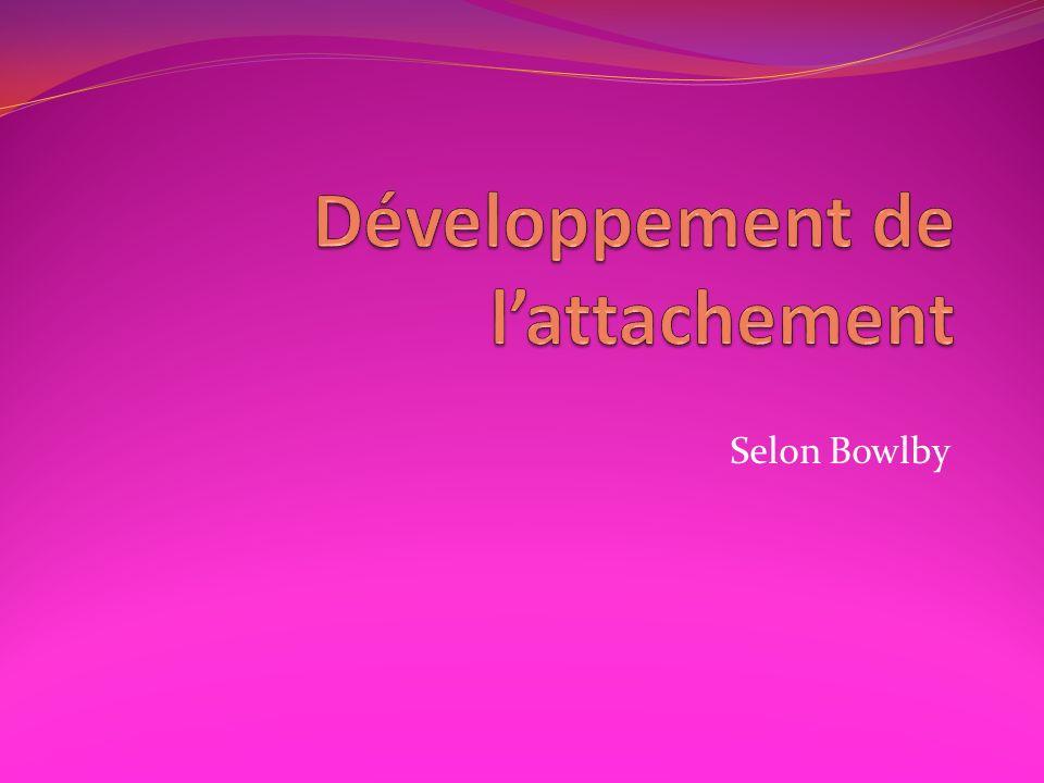 Développement de l'attachement