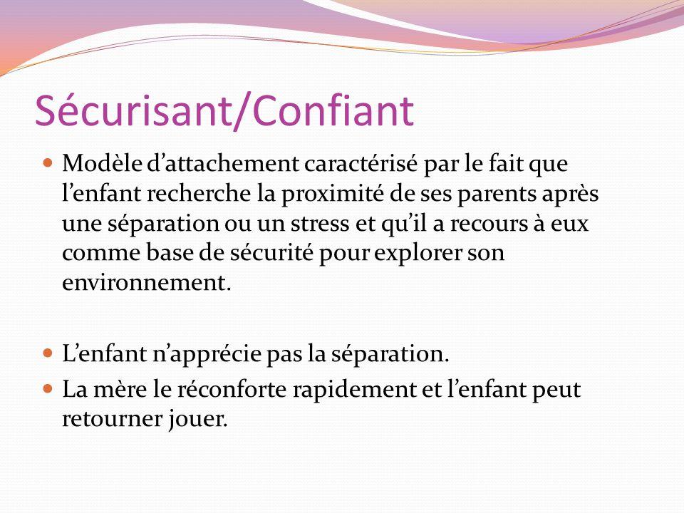 Sécurisant/Confiant