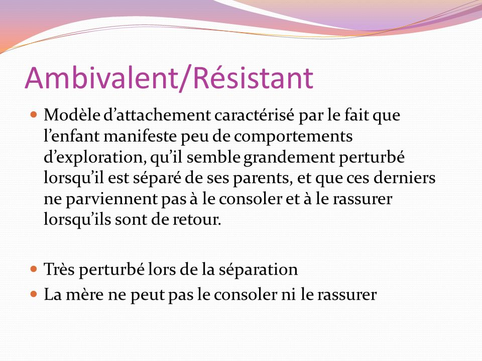 Ambivalent/Résistant
