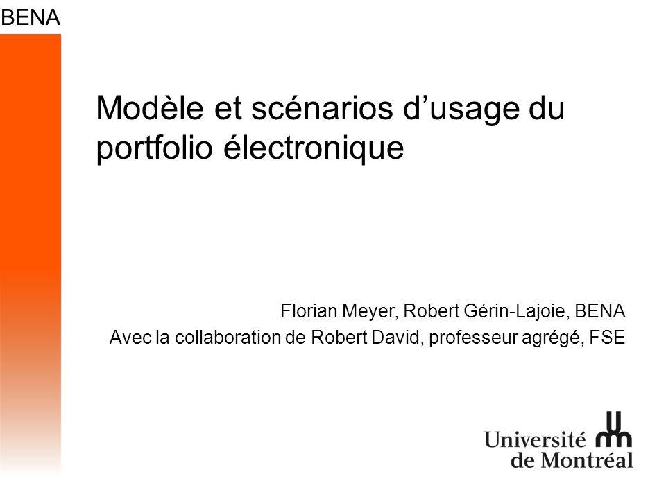 Modèle et scénarios d'usage du portfolio électronique