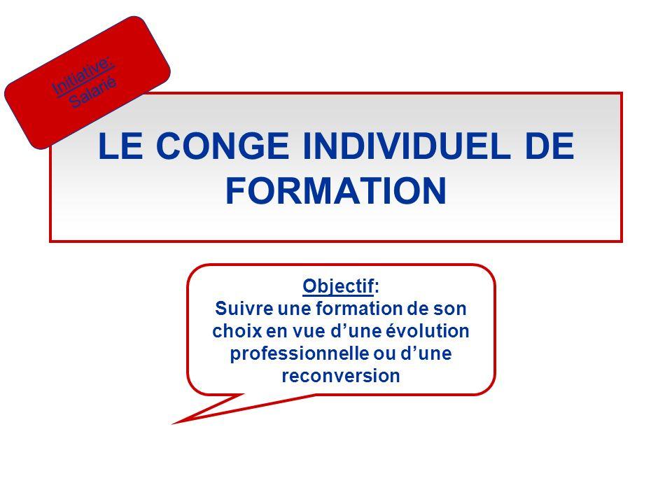 LE CONGE INDIVIDUEL DE FORMATION