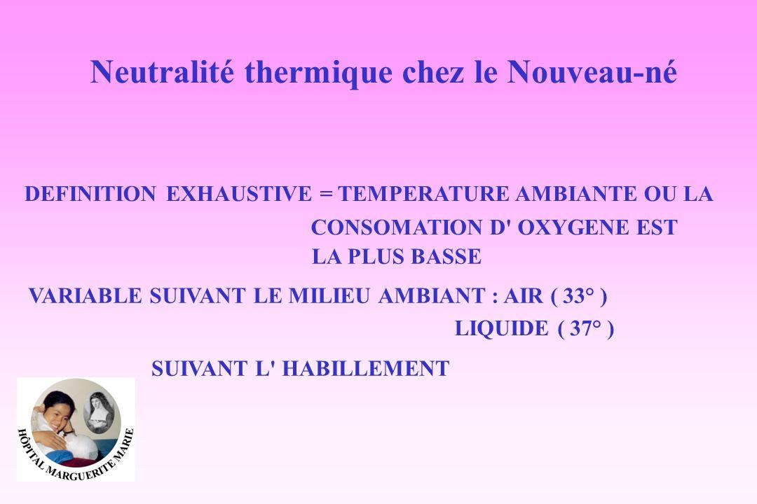 Neutralité thermique chez le Nouveau-né