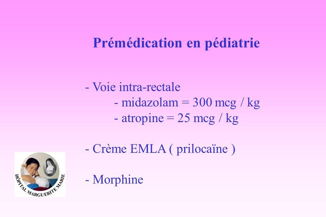 Prémédication en pédiatrie