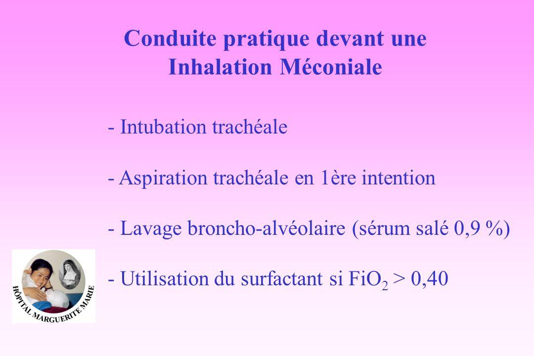 Conduite pratique devant une Inhalation Méconiale
