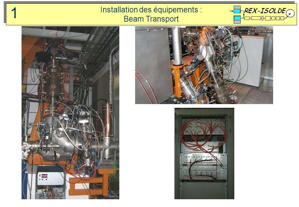 Installation des équipements : Beam Transport