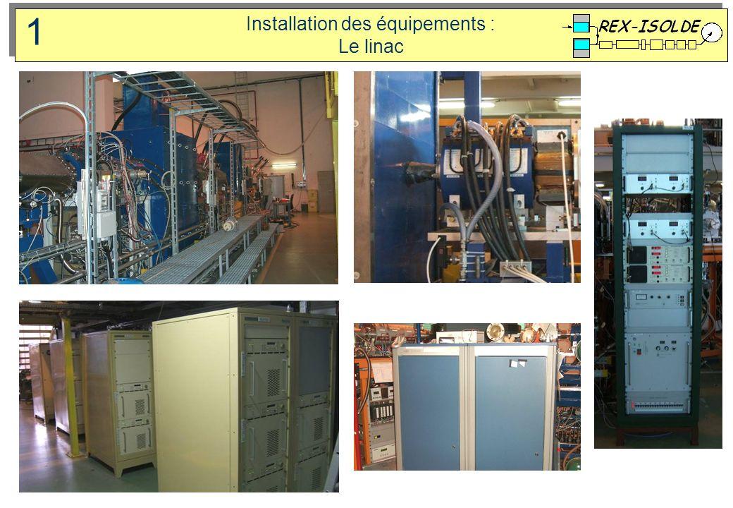 Installation des équipements : Le linac