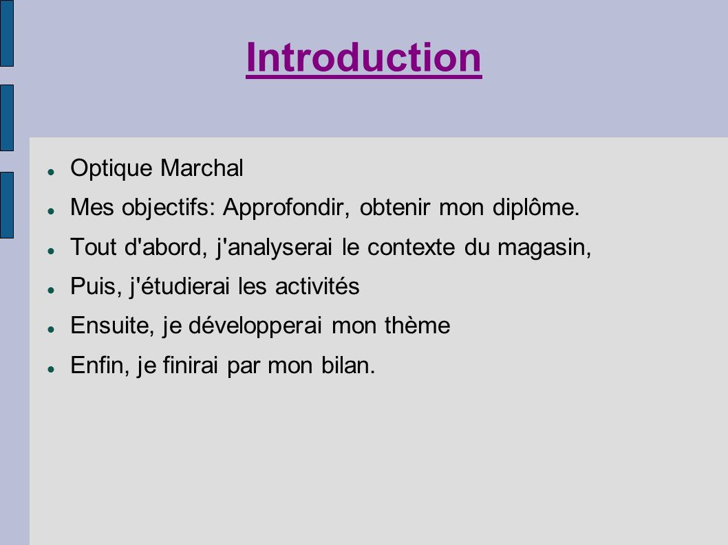 Introduction Optique Marchal