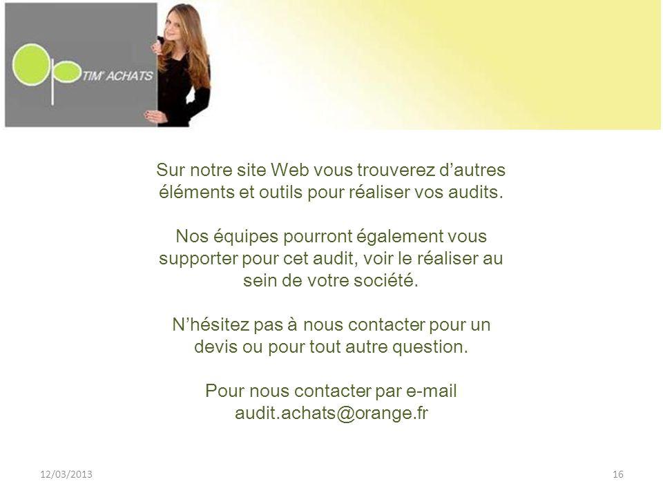 Pour nous contacter par e-mail audit.achats@orange.fr