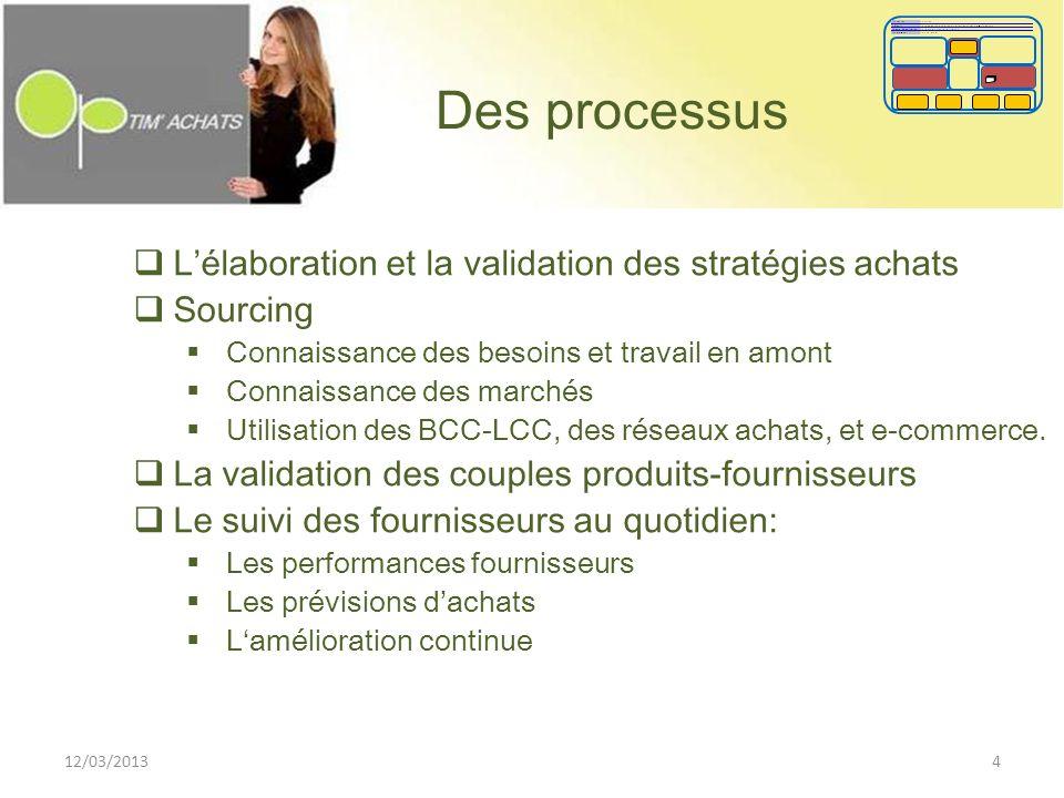 Des processus L'élaboration et la validation des stratégies achats