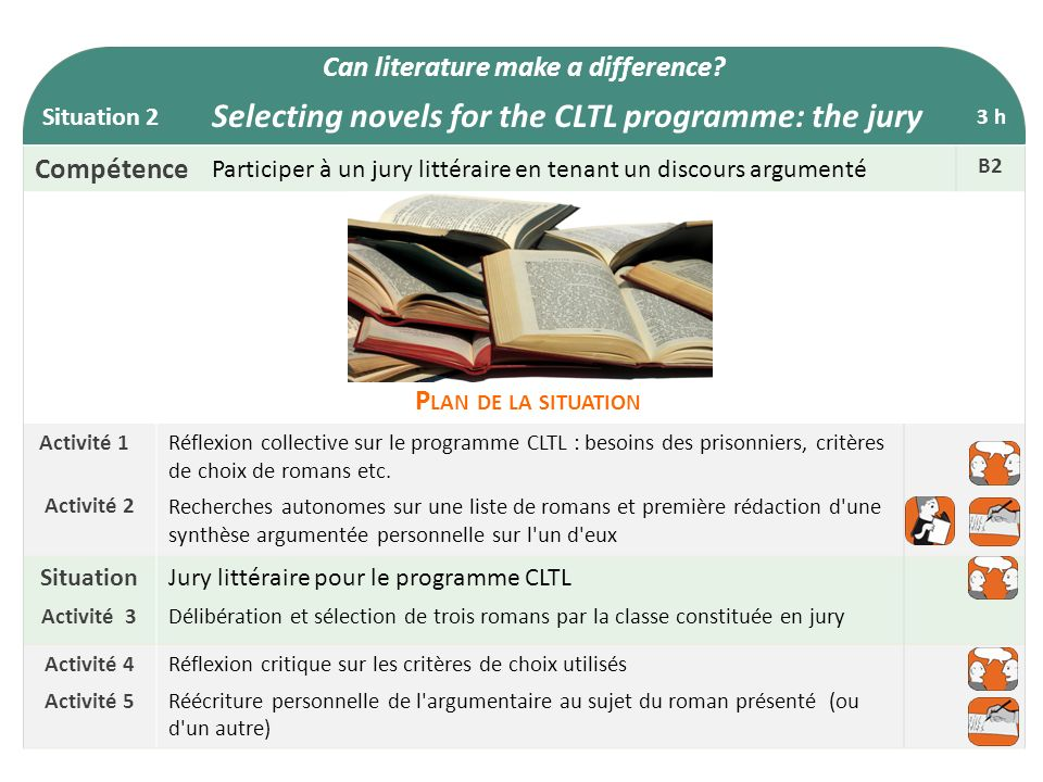 Selecting novels for the CLTL programme: the jury