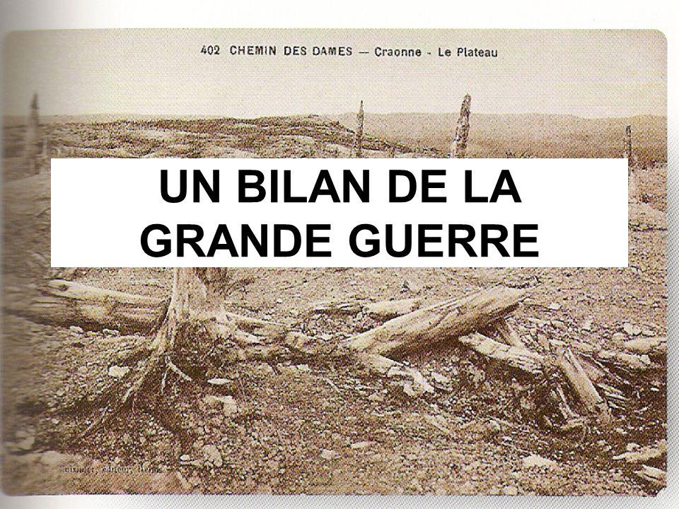 UN BILAN DE LA GRANDE GUERRE