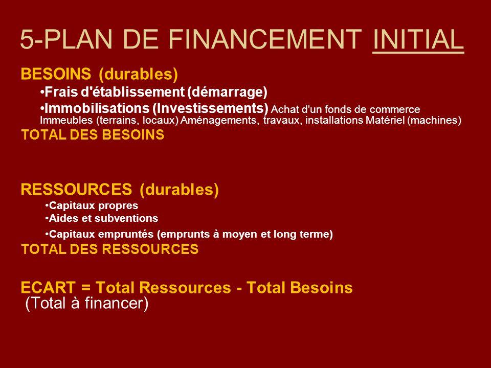 5-PLAN DE FINANCEMENT INITIAL