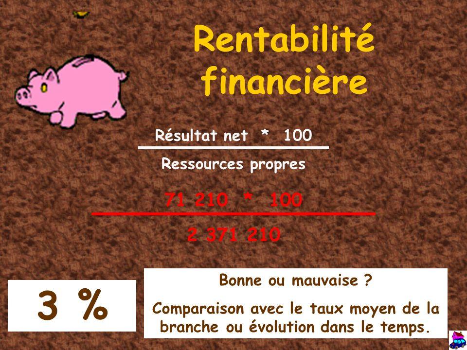 Rentabilité financière