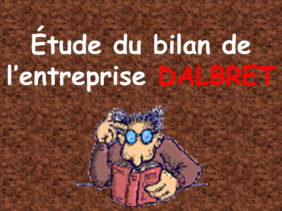 Étude du bilan de l'entreprise DALBRET