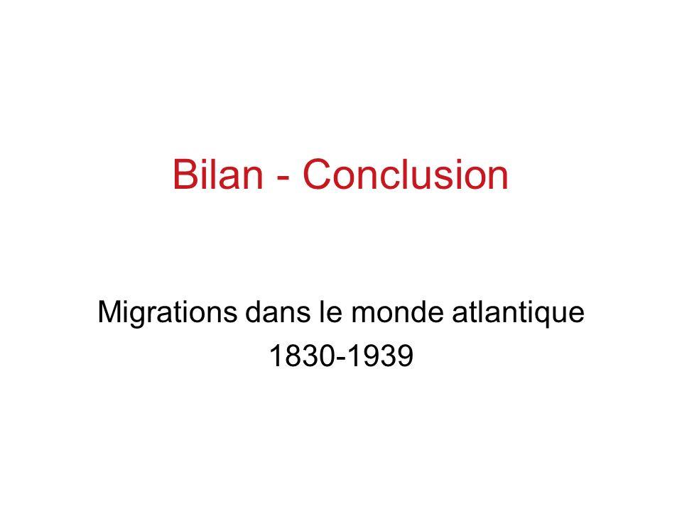 Migrations dans le monde atlantique 1830-1939