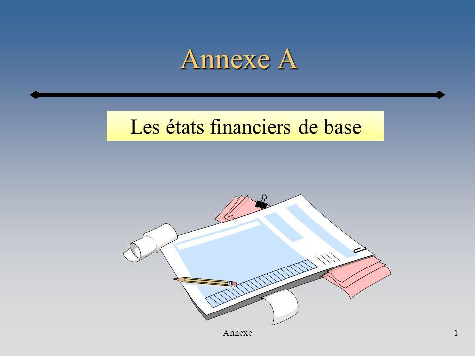 Les états financiers de base