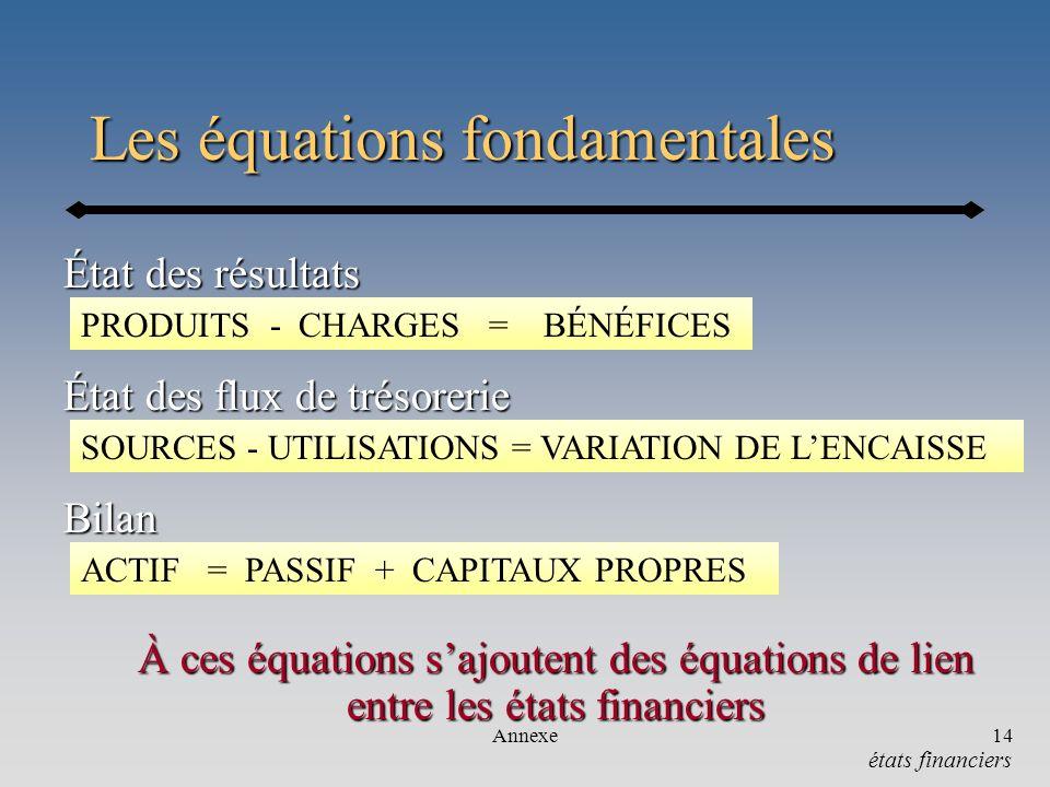 Les équations fondamentales