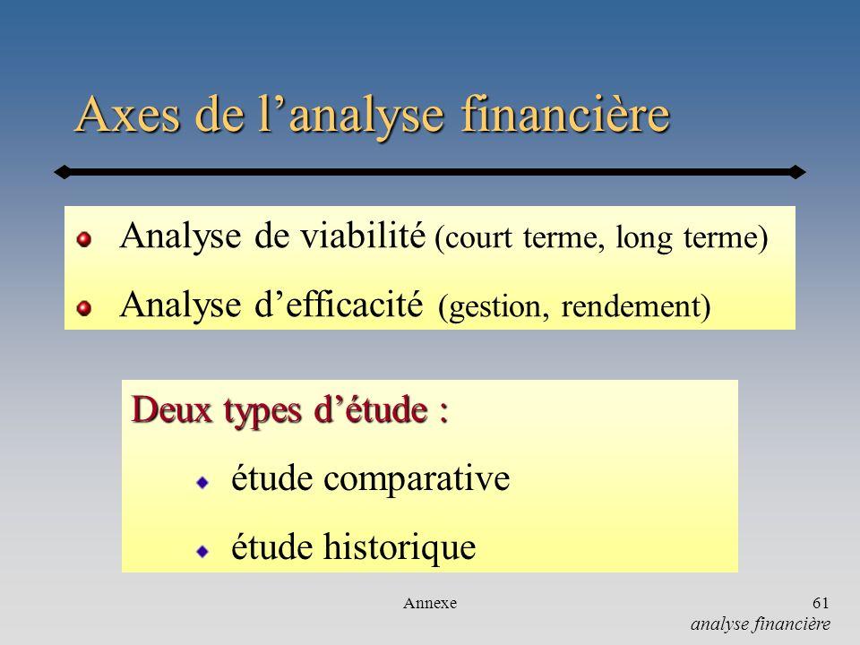 Axes de l'analyse financière