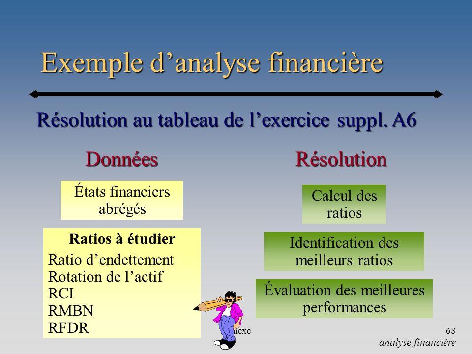 Exemple d'analyse financière