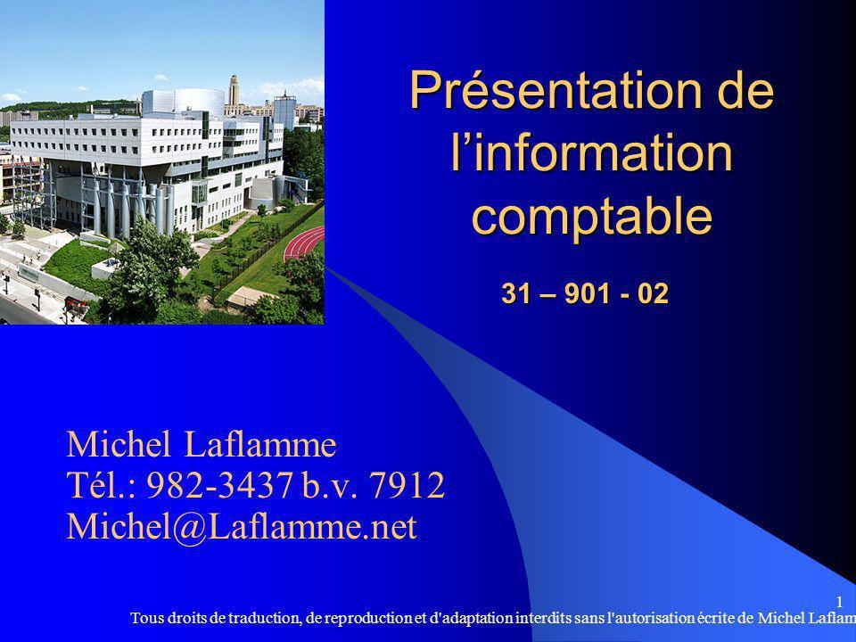 Présentation de l'information comptable