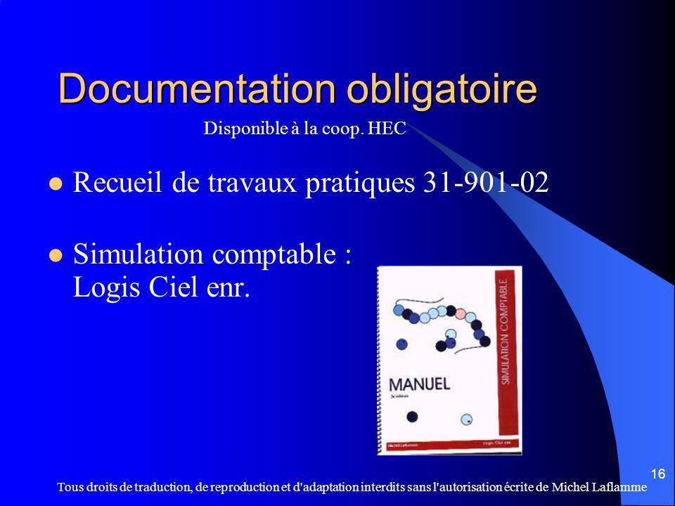 Documentation obligatoire