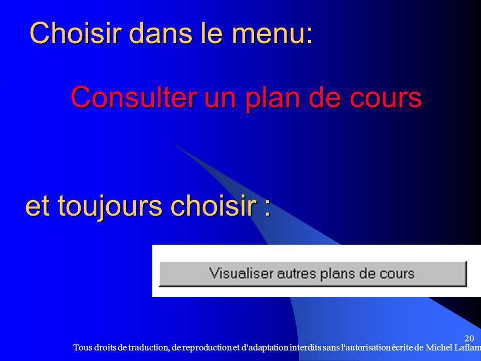 Consulter un plan de cours