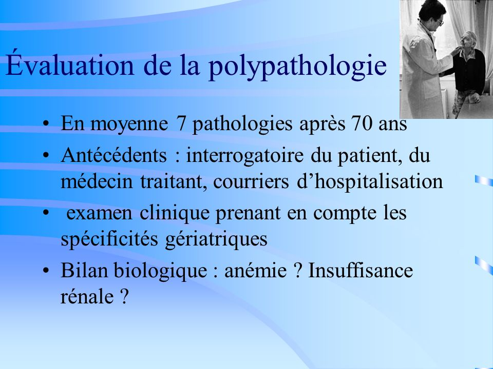 Évaluation de la polypathologie