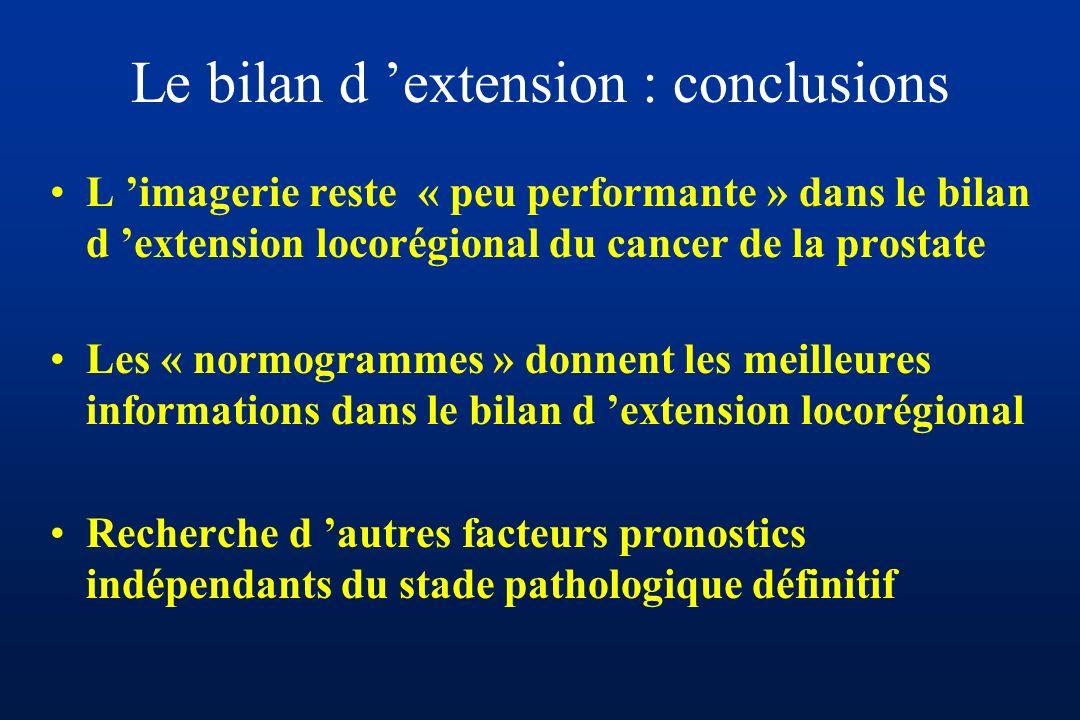 Le bilan d 'extension : conclusions