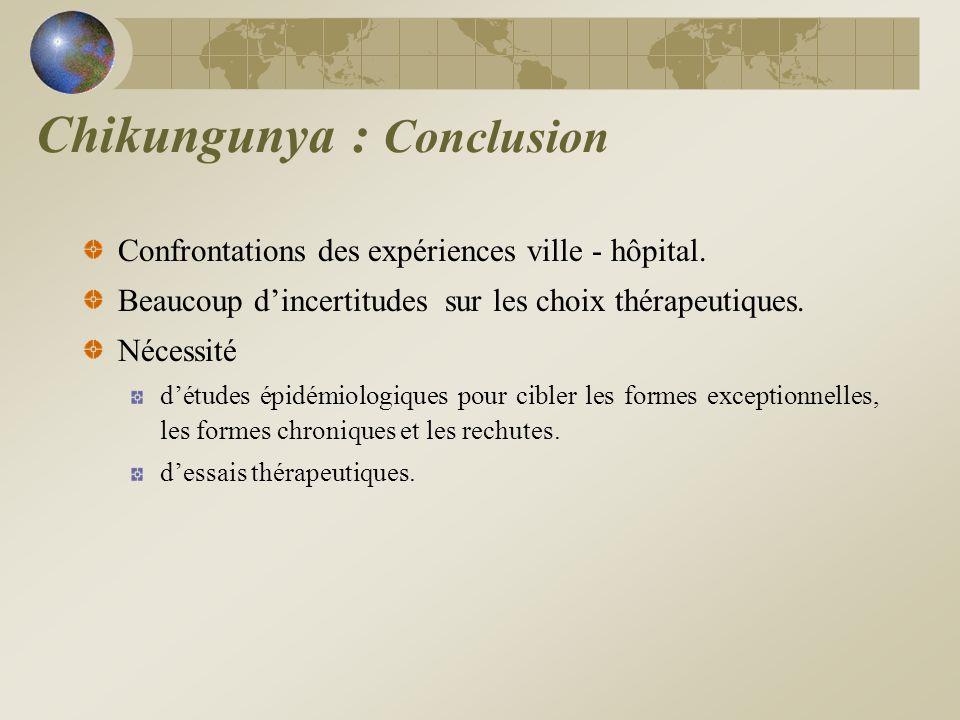 Chikungunya : Conclusion
